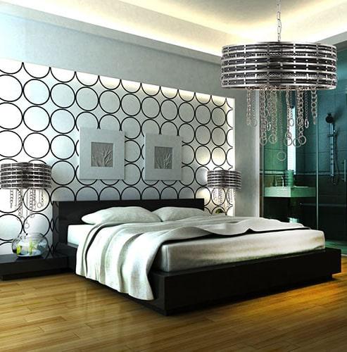 لوستر آویزی اتاق خواب